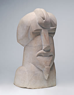 Henri Gaudier-Brzeska Hieratic Head of Ezra Pound 1914