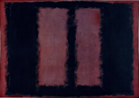 Rothko Black on Maroon