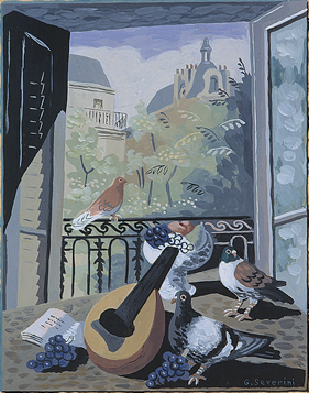3 Severini, Window with Pigeons