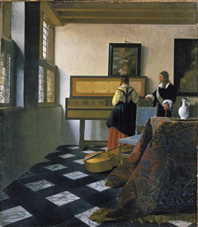 Vermeer The Music Lesson