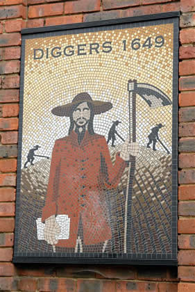 Monument to the Diggers and to Gerard Winstanley in Cobham High Street, Surrey