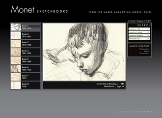 Monet: screenshot of sketches system