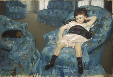 Mary Cassatt: Little Girl in a Blue Armchair