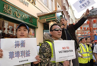 Chinatown demo against dawn raids