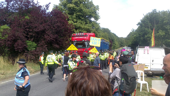 Protesting about Balcombe frack