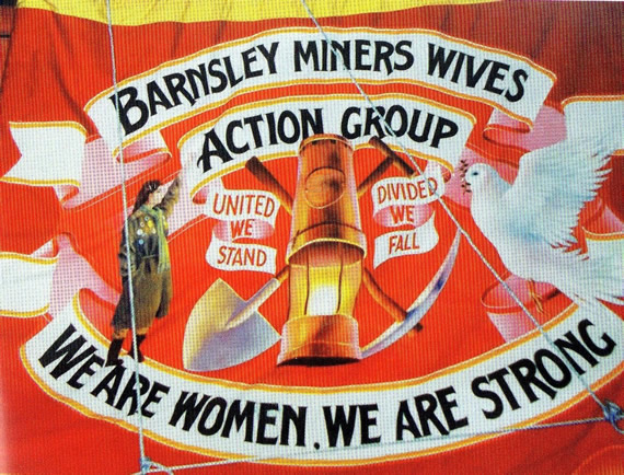 Barnsley miners wives banner