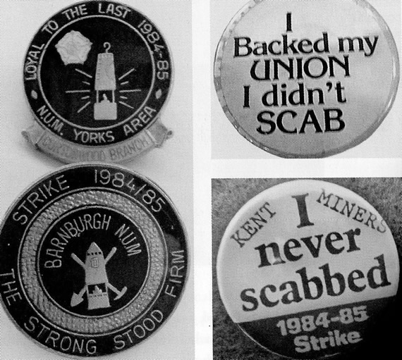 Miners' Badges made after the end of the strike