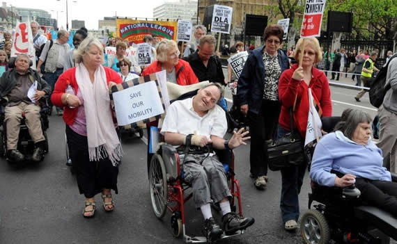 Disabled march