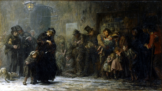 Watts Gallery Dickens and the Artists Luke Fildes Applicants for Admission to a Casual Ward