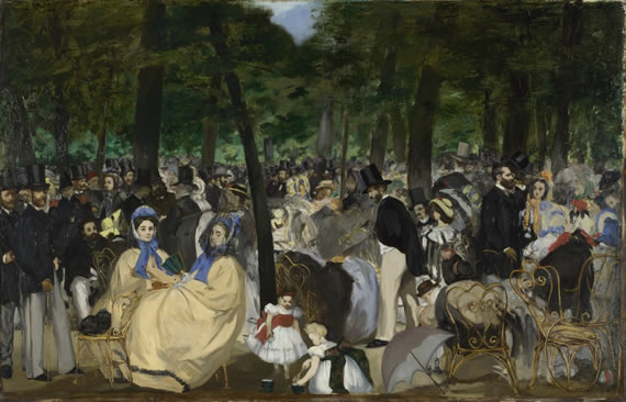Manet Music in the Tuileries Gardens