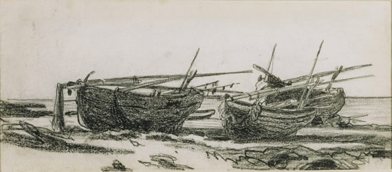 Monet: Boats on the Beach in Normandy