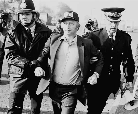 Miners leader Arthur Scargill arrested at Orgreave, May 1984