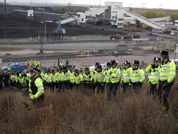 Climate Camp protest at Ratcliffe-on-Soar Power Station
