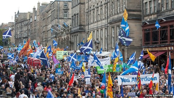 March in favour of YES